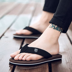 Men  women flip-flops, non-slip sandals, beach Slippers, size small take one size bigger than usual brown 38