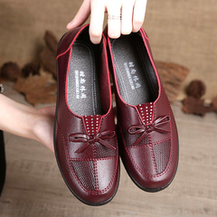 Hot Sale New Women's PU Single Shoes, Breathable Soft Sole Shoes, Comfortable Shoes red 35