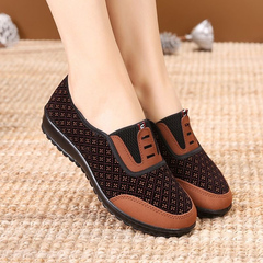 Hot Sale Women's shoes, mother soft bottom shoes, non-slip shoes, flat casual shoes 711#brown 35