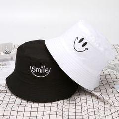 Men's /women's hats outdoor travel caps field work hats double-face caps, sunshade hat smile hats black+white 56-58cm