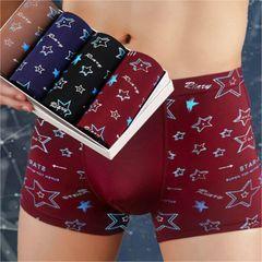4 Pack Men's Wear Sexy Fashion Underwear Men's Breathable Underwear Boxer Briefs 4pc star xl