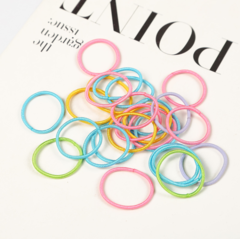 Solid color hair ring candy color thin hair rope children tie pony tail hair rope hair accessories colours