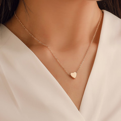 Women Necklace Tiny Heart Choker Chain Love Necklace Pendant Jewelry Lover Gift gold one size
