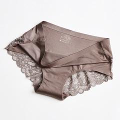 6pcs Women Sexy Lace Panties Seamless Underwear Briefs Nylon Silk for Girls Ladies Cotton Crotch pink m