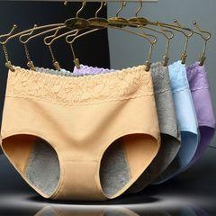 5pcs Women Physiological Panties Leak Proof Menstrual Women Underwear Period Panties Cotton Brief mix colour 5 pcs of XL