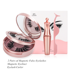 2 Pairs of Magnetic False Eyelashes Set Waterproof Long Lasting Eyeliner Extension Ks01-5