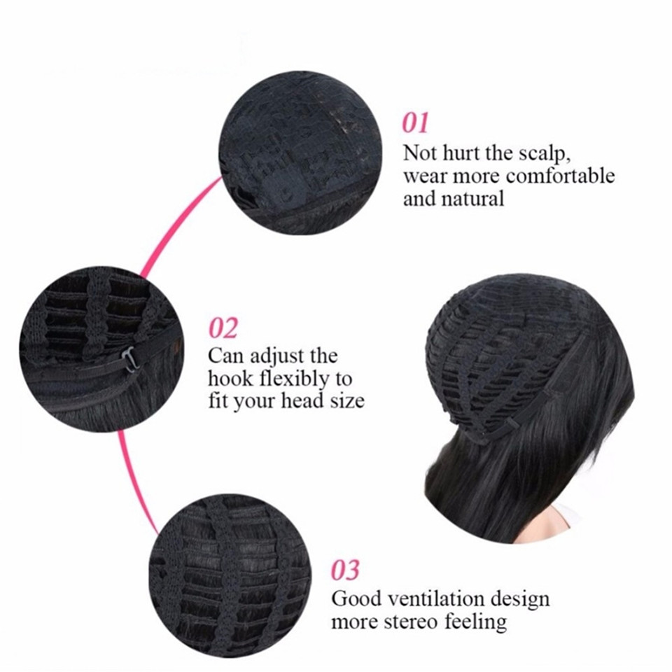 European and American Fashion Ladies Short Curly  Wig African Black Hair Wigs For Women black as picture 19