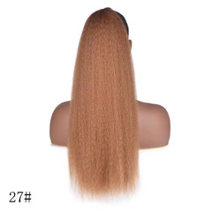 Corn Curly Horsetail African Micro Ironing Hair Extensions Wigs For Women 27# 22inch