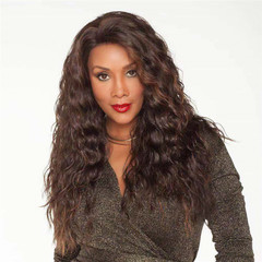 Fast Delivery1-5workdays Lady Dark Brown Curly Long Hair Fashion Synthetic Wigs Weave For Women dark brown 26inch