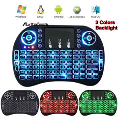 Rechargeable Wireless Keyboard With Touch pad And Backlight