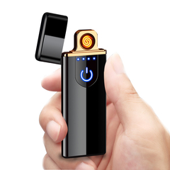 USB Lighter With Touch And Fingerprint Gold