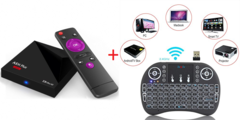 Android TV Box With Latest Android 9.0 2GB Ram 16GB Rom And 4K Plus Wireless Keyboard