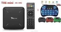 TX6 Mini TV Box Android 9.0 4K 2GB RAM/16GB ROM GB With Mini Wireless Keyboard