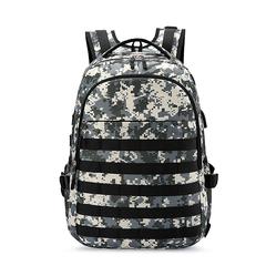 explosion models three-level backpack camouflage shoulder large capacity bag travel bag forest camouflage one size