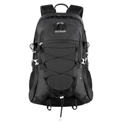 Waterproof Nylon Backpack Large Capacity Outdoor Sport Daypack for Climbing Camping  Mountaineering black one size