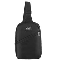 Fashion Chest Bag Outdoor Sport Travel Shoulder Sling Backpack Pouch for men Women black one size