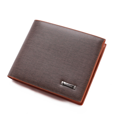 New Business Wallet Men Casual PU Leather Foldable Short Purses Wallet for Men Business Wallets coffee one size