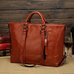 Women Leather Tote Bag Handbag Lady Purse Shoulder Messenger Casual Shopper Fashion Bag brown one size