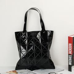 Geometric rhombic female bag variable folding deformation ladies Handbag Fashion Envelope bag black one size