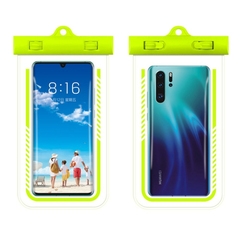 Large Waterproof Phone TPU Pouch , Rafting Swimming Diving,Buy 10 pieces per order . green one size