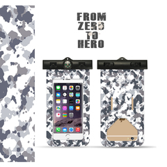 Camouflage Mobile Phone Waterproof Bag with Compass, Rafting Swimming Diving,Buy 10 pieces per order plateau camouflage one size