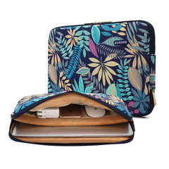 KAYOND Canvas Water-Resistant For 11-17 Inch Laptop Sleeve Case Bag forest blue 15inch
