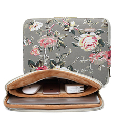 KAYOND Various Flower pattern Canvas Water-Resistant For 11-17 Inch Laptop Sleeve Case Bag Eichhornia Crassipes 13inch