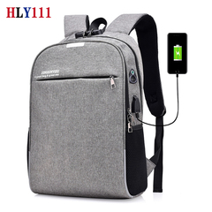 Laptop Backpack Large Travel Bag Anti Theft Durable Laptops Backpack Fits 15.6 Inch Laptop with USB gray one size