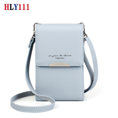 High Quality Mobile Phone Mini Wallet PU Leather Shoulder Bag Waterproof Smart  Phone Lady bag black one size