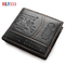 Newest Men Short Wallet Card Holder Casual Trifold Purse and Handbag Money Organizer black one size