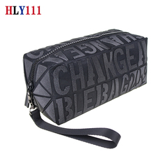 New 2019 fashion Women bag letter Geometric Wristlet Purse Flexible folding female bag black one size