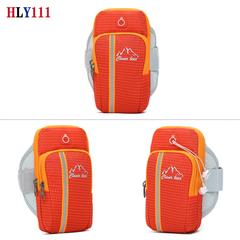 Universal Running Armband, Multifunctional Outdoor Sports Armband Sweatproof Armbag Casual Arm Packa orange one size