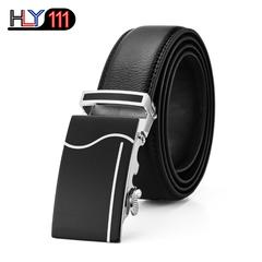 2019 Kenya Men's business high-grade genuine leather belt automatic buckle belt men's trousers belt Black one size