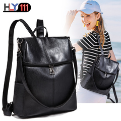 Women Backpack Purse PU Leather Ladies Rucksack Shoulder Bag Casual Shoulder Bag Fashion Satchel Bag black one size