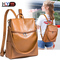 Women Backpack Purse PU Leather Ladies Rucksack Shoulder Bag Casual Shoulder Bag Fashion Satchel Bag brown one size