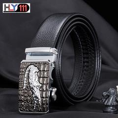 Crocodile alloy automatic buckle imitation leather belt, China's business men's belt Alligator A one size