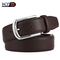 Chinese Style Needle Button Genuine Men's Belt Men's Double-sided Cowskin Belt coffee one size