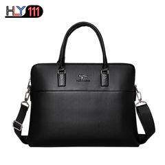 High Quantity Fashion Men Handbags Kangaroo Tote Shoulder Laptop Waterproof Man Business Briefcase black one size