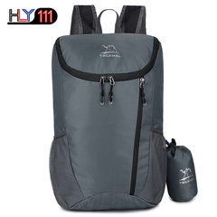 new simple style fashion outdoor lightweight sports foldable soft backpack waterproof hiking travel gray one size