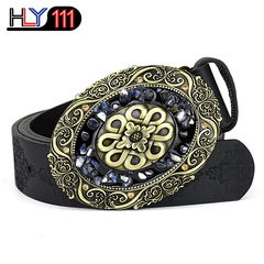 African Best Selling Women's Belt Fashion Female Turkish colored stone Belt Decoration Fashion B stone2101