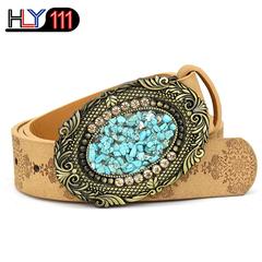 African Best Selling Women's Belt Fashion Female Turkish colored stone Belt Decoration Fashion Y stone2190