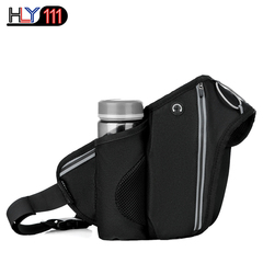 Outdoor sports waist pack multi-functional cross-country running bags large capacity slanting phone black one size
