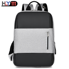 Chineses tyle Leisure sports backpack multi-function USB charging computer backpack travel schoolbag gray one size