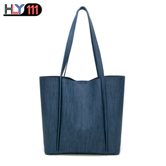 Kenya style Women's handbags in 2019 fashion simple and elegant cross-body bag durable shoulder bag dark-blue one size