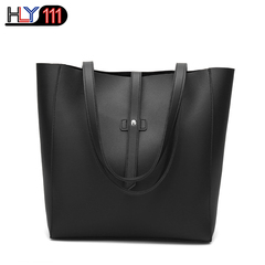 HLY111 Fashion Women's Large Tote Shoulder bag  Soft Leather High quality Bag Chinese style Handbag black one size