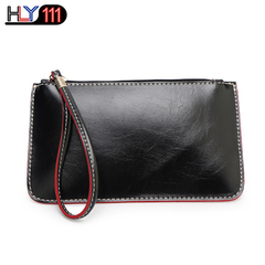HLY111 latest Wristlet Bags, fashionable PU purse Clutch bag Chinese fashionable lady's handbag black one size