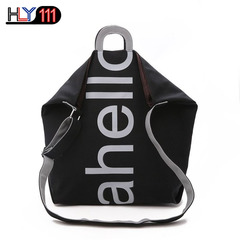 Chinese Simple Large Capacity Canvas Bag Pure Color Single Shoulder Women's Bag Recreational Handbag black one size