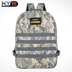 Eat chicken bag hot style three level backpack Digital Camouflage large capacity backpack travel bag urban camouflage one size