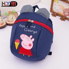 New Piggy Pig Children's Bag, Traction Rope Children's Lost Shoulder Bag, Kindergarten Cartoon bags dark blue one size