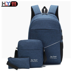 large capacity backpack Business Single Shoulder Bag Fashion wrist bag leisure backpack three sits dark blue one size